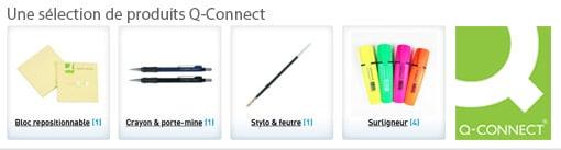 Une sélection de produits Q-Connect chez CBI Diffusion