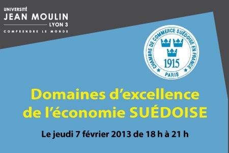 """Séminaire """"Domaines d'excellence de l'économie suédoise"""" le 07/02/2013 à Lyon III"""