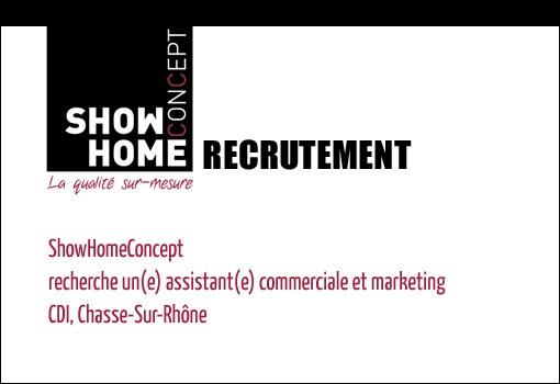 ShowHomeConcept recherche son assistant(e) commerciale et marketing