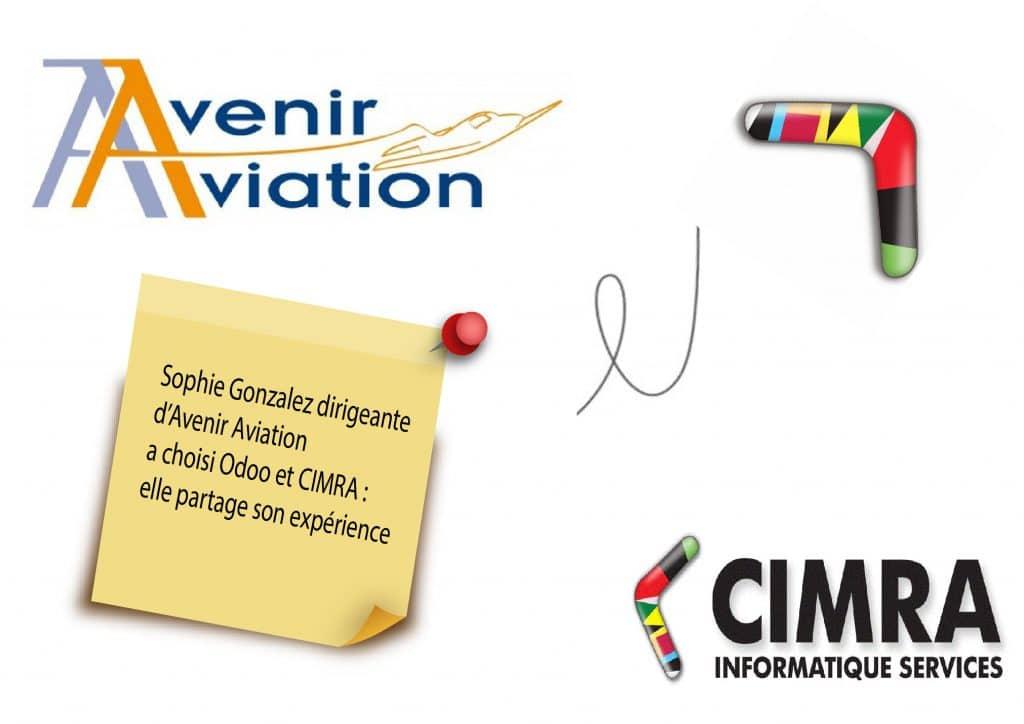 Sophie Gonzalez dirigeante d'Avnir Aviation évoque Odoo et sa collaboration avec CIMRA