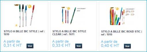 stylos BIC personnalisables
