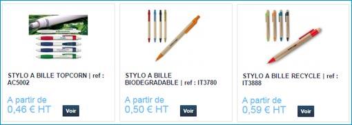 stylos écologiques personnalisables