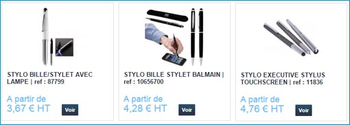 stylos multifonctions personnalisables