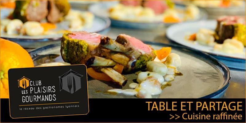 Mardi 10 Mars : 21ème Déjeuner du Club au restaurant Table et Partage [Club Les Plaisirs Gourmands]