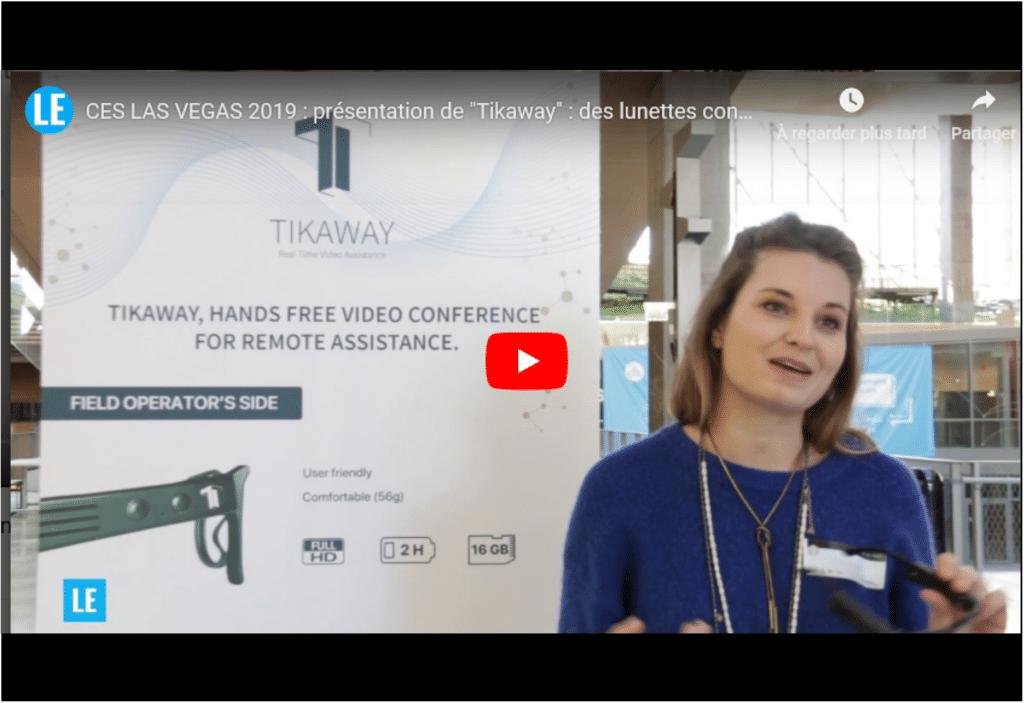 """""""Tikaway"""" : des lunettes connectées pour les vidéoconférences"""