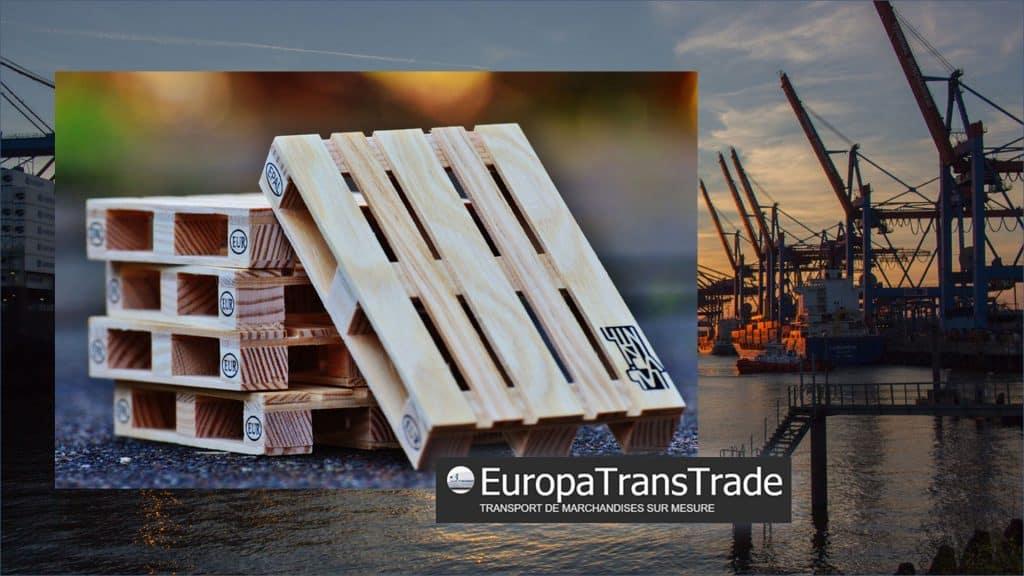 Palettes en bois pour le transport industriel