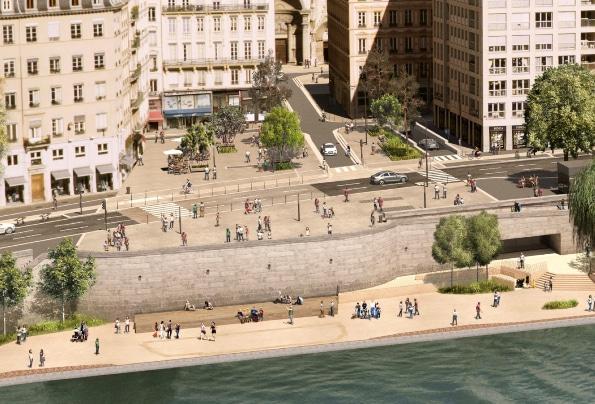 Travaux lancés jusqu'à fin 2022, côté Saône: le projet «Terrasses de la Presqu'île» débute par la place Saint-Nizier