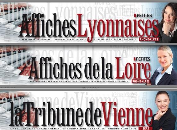 Trois hebdomadaires économiques rhônalpins dont «Les Affiches Lyonnaises» changent de mains