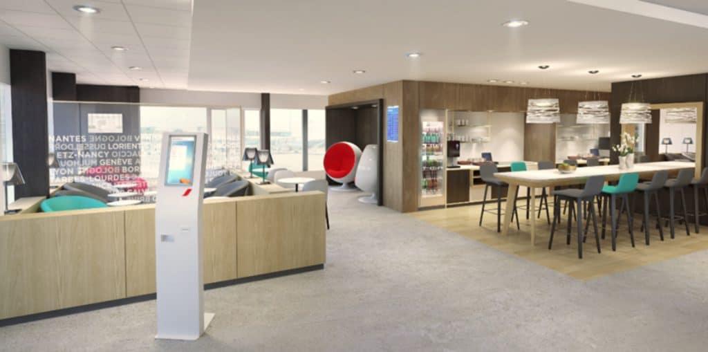 Un nouveau salon pour les passagers d'Air France, à l'aéroport de Lyon-Saint Exupéry, et une offre couplée bus/avion