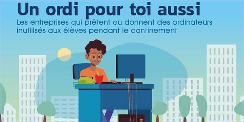 « UN ORDI POUR TOI AUSSI » propose un ordinateur aux jeunes confinés les plus démunis