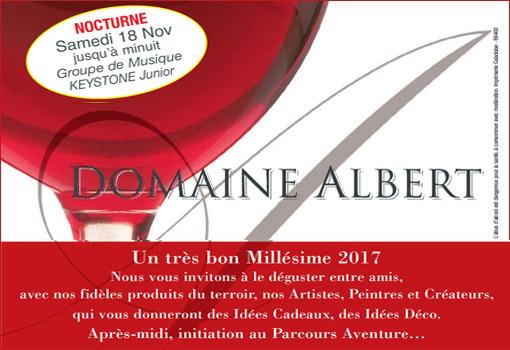 Venez partager le cru 2017 du beaujolais nouveau au Domaine Albert !