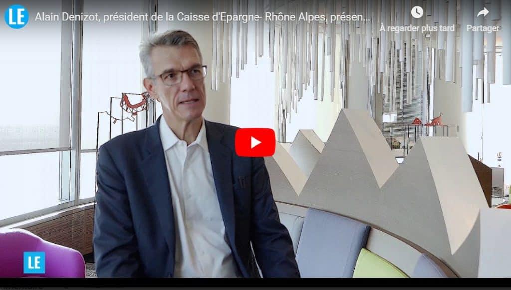 Alain Denizot, président du directoire de la Caisse d'Epargne Rhône-Alpes lance la «Banque des dirigeants»