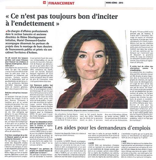 Coupure de presse, interview