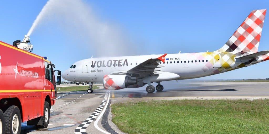 Gage de confiance dans la relance de Saint Exupéry, Volotea installe une base à Lyon avec un Airbus A319 sur le tarmac