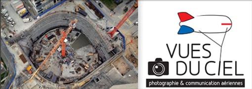 photo de chantier vu du ciel pour un usage technique